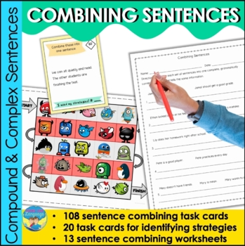 Combining Sentences: Task Cards and Open Ended Game Boards