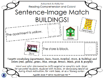 Sentence-Image Match… An Adapted Book for Comprehension wi