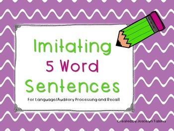 Sentence Imitation Freebie