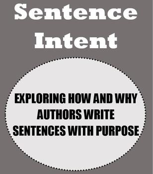 Sentence Intent Complete Unit: Activities, Handouts and Le