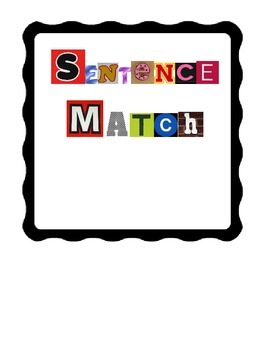 Sentence Match File Folder Game