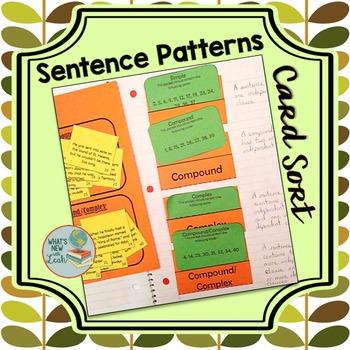 Sentence Patterns Card Sort