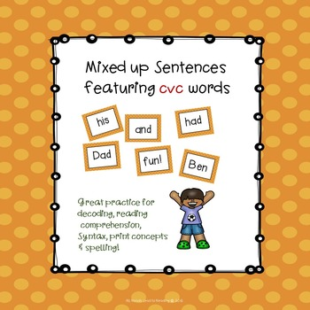 Sentence Practice With CVC Words