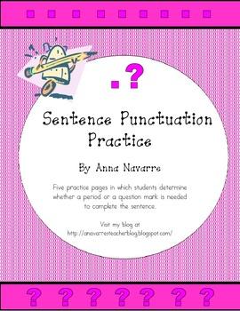 Sentence Punctuation Practice