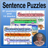 Sentence Puzzles Bundle for Punctuation and Sight Word Pra