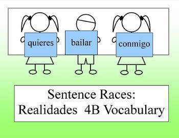 Sentence Race Game for Realidades 4B (Spanish 1)