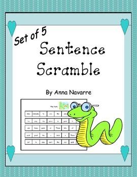 Sentence Scramble - Set of 5