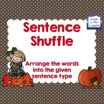 FREE Sentence Types ELA Center Activity