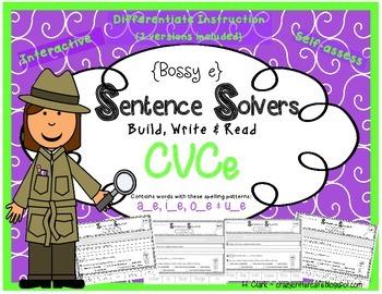 Bossy E, Silent E~ Interactive CVCe Sentence Building Acti