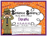 DIGRAPHS~ Interactive Sentence Building Activity~ Sentence