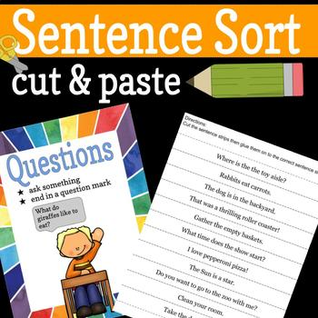 Sentence Types Sort - Cut and Paste
