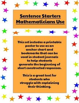 Sentence Starters Mathematicians Use