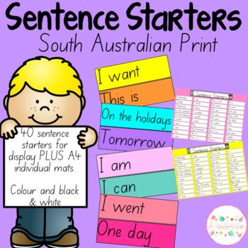 Sentence Starters - South Australian Print
