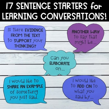 Sentence Starters for Learning Conversations