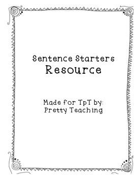 Sentence Starters for Writing