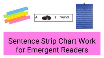 Sentence Strip Chart Work For Emergent Readers Set #1