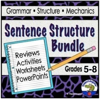 Sentence Structure BUNDLE - Sentence Structure Teaching Resources