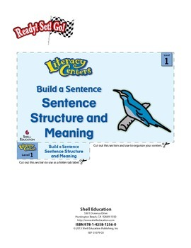 Sentence Structure and Meaning--Build a Sentence Literacy