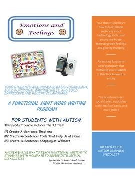 Sentence Training Program for Autism Students Bundle Pack