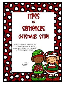 Sentence Types! Christmas Style