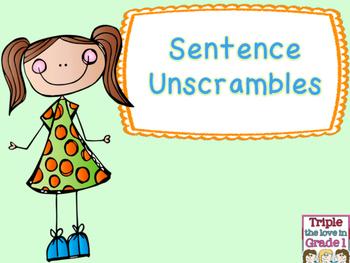 Sentence Unscrambles