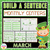 Sentence Writing Center Activities---March Edition