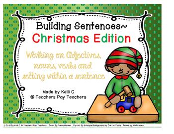 Sentence Writing- Christmas Edition (Using Adjectives, Nou