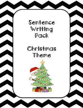 First Grade Sentence Writing Pack- Christmas Theme
