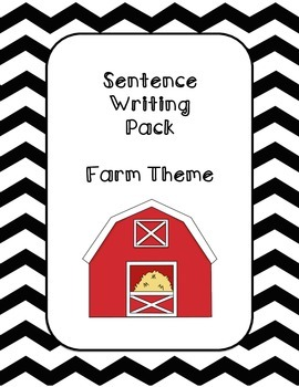 First Grade Sentence Writing Pack- Farm Theme
