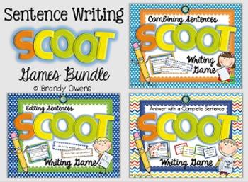 Sentence Writing SCOOT Games Bundle