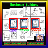 Sentence builders-who,what,where cards