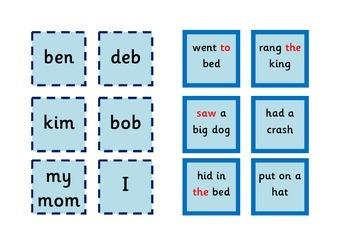 Sentence cubes