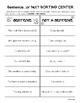 Sentence or Not a Sentence Sorting Center and Worksheet Pr