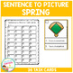 Sentence to Picture Match Task Cards Spring Set