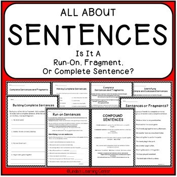 Sentences - Run On, Fragment, or Complete
