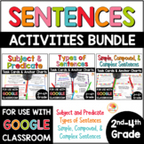 Sentences Task Cards and Anchor Charts BUNDLE