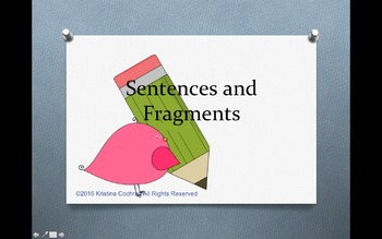 Sentences, Fragments, and Run-ons PowerPoint