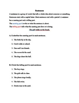 Sentences Practice