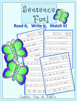 Sentences: Reading, Writing, and Matching
