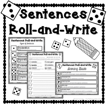 Sentences Roll-and-Write