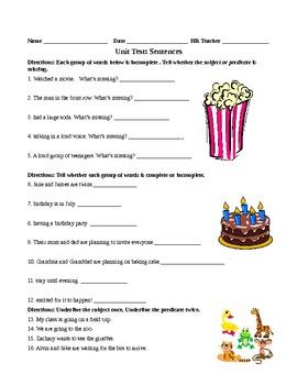 Sentences Unit Test