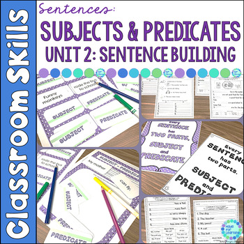 Sentence Structure: Subjects and Predicates Unit 2: Senten