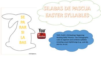 Separar silabas  - contar silabas centros dual language Ea