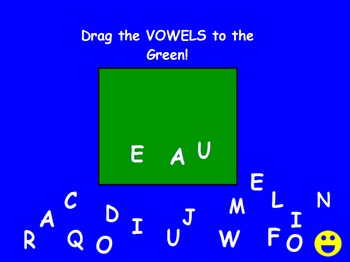 Separate Vowels from Consonants with Upper Case Letters Pr