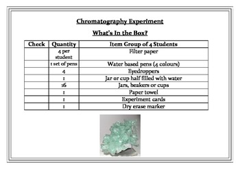 Separating Mixtures - Chromatography in a Box