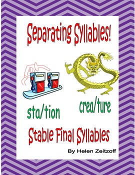 Separating Syllables! Stable Final Syllables