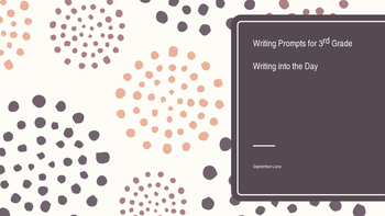 Sept-June Daily Writing Notebook prompts