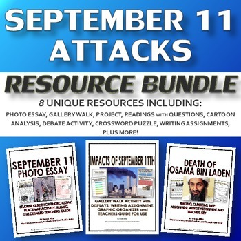 September 11 - Resource Bundle (8 Resources with Rubrics a