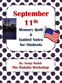 September 11th Guided Notes & Activity for Grades 2,3,4 (T