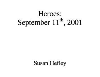 September 11th: Heroes